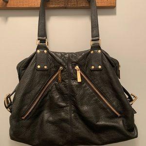Michael Kors -Portland Black Leather Satchel Bag